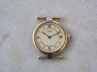 Cartier Vermeil Damenuhr 925 Silber Vergoldet Bild