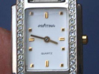 Schöne Prätina Armbanduhr Gut Erhalten Läuft Gut. Bild