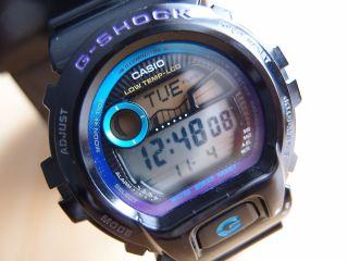 Casio G - Shock G - Lide Glx6900 - 3194 Schwarz/blau Sport Uhr Wie Mit Ovp Bild