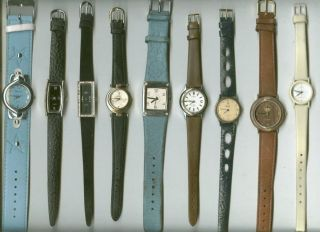 36 X Damenuhren Konvolut Armband Leder,  Edelstahl Verschieden Damen Uhr Gut Bild