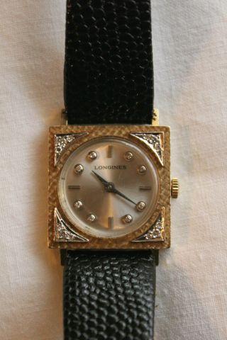 Longines 585er Gold Mit Diamantbesatz Kal.  428 Longines - Wittnauer Rar Bild