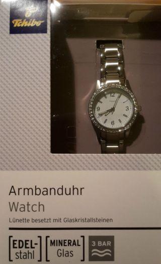 Tcm Tchibo Armbanduhr Für Damen,  Edelstahl,  Und Unbenutzt Bild
