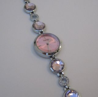 Kimio Fashion Armbanduhr Damen Uhr Trend Edelstahl Glamour Strass Rosa B - Ware Bild