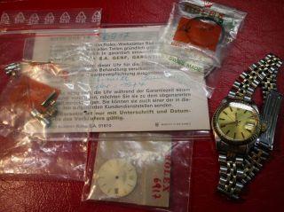 Luxus Armbanduhr Rolex Oyster Perpetual Date Nr.  6917 M.  Zubehör Bild
