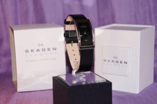 Skagen Damen - Armbanduhr Slimline Analog Quarz Leder 359uslb Bild