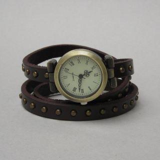Vintage Wickelarmband Wickel Uhr Armbanduhr Damen Wrap Watch Brown Braun B - Ware Bild