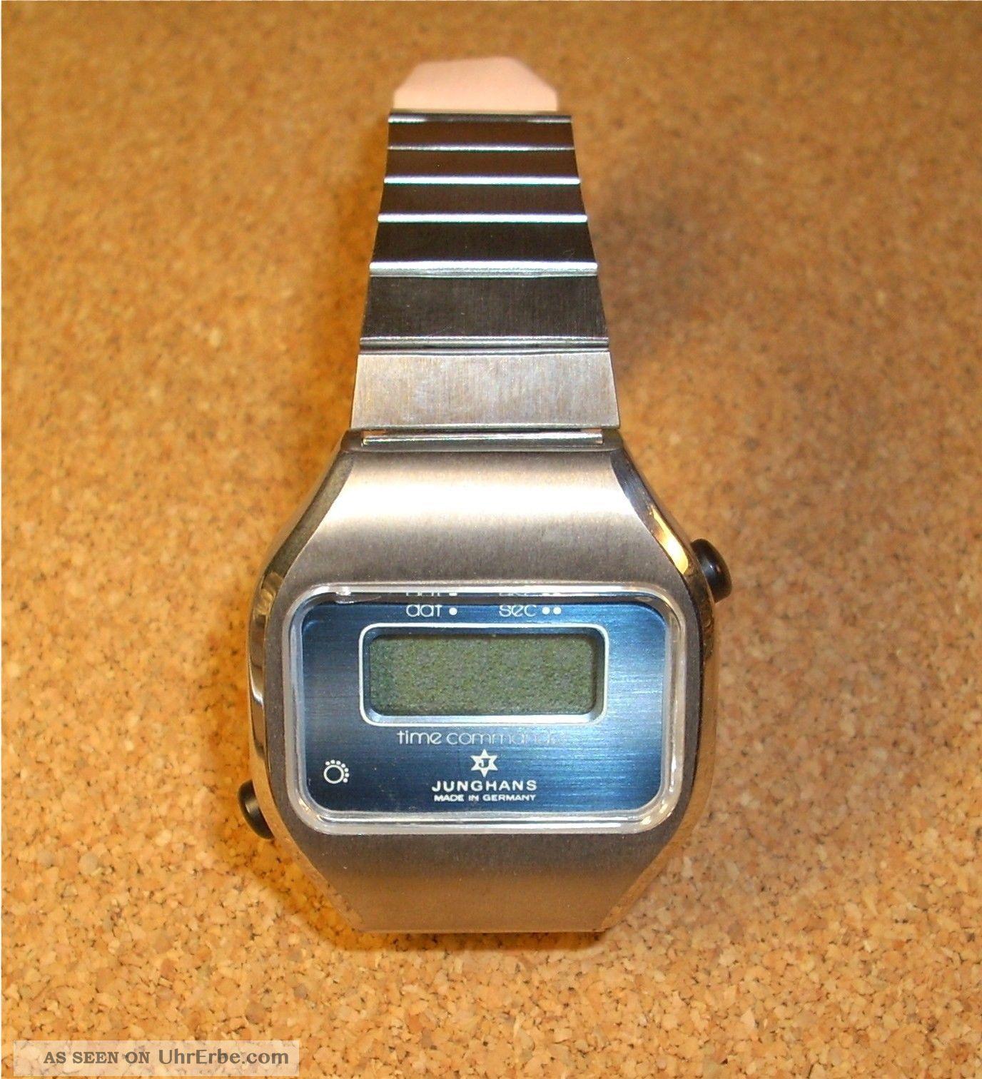 Junghans Herrenuhr Armbanduhr,  Time Commander,  Quartz,  Hau,  Nos Armbanduhren Bild