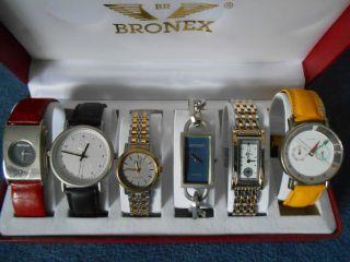 Konvolut:6 Damen - Armbanduhren Von Rolf Cremer,  Belmond,  Accept,  Adec In Uhrenbox Bild