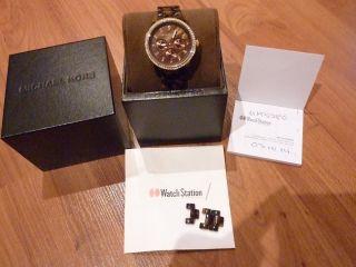 Mk 5280 Michael Kors Armbanduhr Für Damen Braun Gold Swarovski Np149,  90€ Bild
