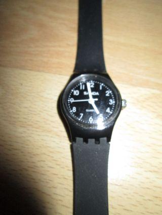 3 Uhren Schwarz Rot Weiß Armbanduhr Sanda Quartz Vintage Gothik Rockabilly Boho Bild