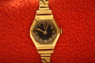 Glashütte Damenarmbanduhr 585 Gold Bild