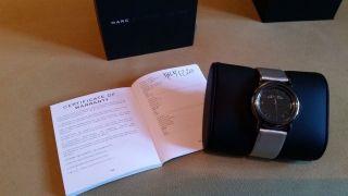 ☆ Marc By Marc Jacobs Damen Uhr Mbm 1220 Hoher Np Silber Leder Weihnachten ☆ Bild