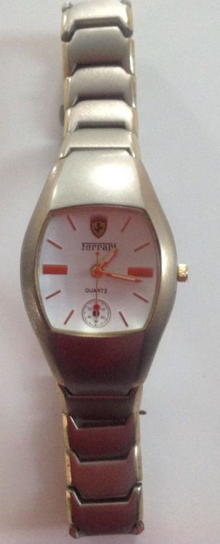 Ferrari Uhr Armbanduhr Metallarmband Quarz Herren Damen Bild