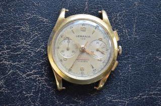 Lemania 105 Chronograph 18k Gold Bild