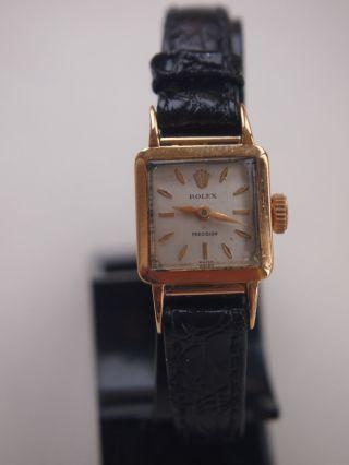 Orig.  Rolex - Damenuhr - Vintage - 375er Gold = 9 Kt - Handaufzug Bild
