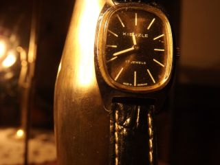 Damen Armbanduhr Kienzle 17 Jewels Lederarmband Real Vintage Bild