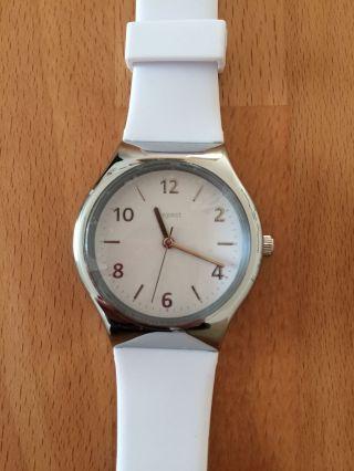 Damen Uhr Von Tcm Tchibo - Weiß / Silber - - - - Bild
