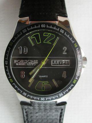 Porsche Inter - Auto Armbanduhr (28) Selten Getragen Neuwertig Bild