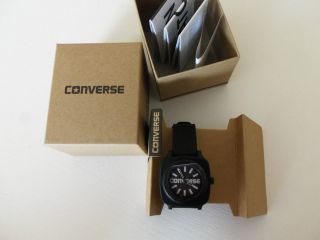 ✿converse✿tolle,  Lässige Armbanduhr Schwarz,  Hochwertiges Polyurethanarmband, Bild