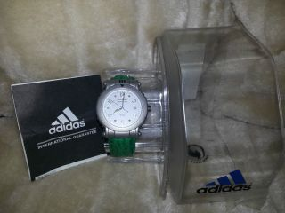 Adidas Adventure Armbanduhr Uhr 10 Atm Edelstahl Lederarmband Neu Bild