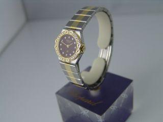 Chopard St.  Moritz Uhr - Mini - Stahl/gold Mit Brillanten Quarz Damen Bild