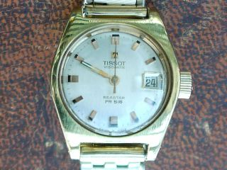 Tissot Visodate Seastar Pr 516 Damen Handaufzug 1969 Vintage Gold Jahrgangsuhr Bild