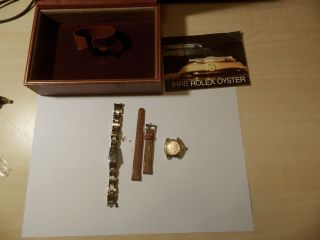 Rolex Ref.  6618 6623 Damenuhr Automatik Box Und Zubehör Armbänder Bild