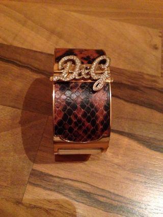 D&g Dolce & Gabbana Jaws Damenuhr - Armreif Edelstahl Strass Bild