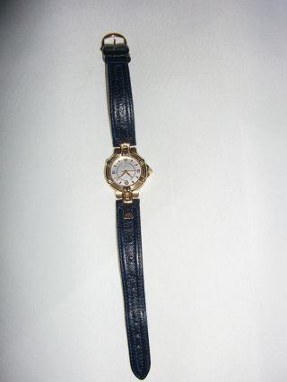 Maurice Lacroix Armbanduhr Blau/gold Weißes Ziffernblatt - Bild