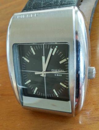 Diesel Uhr Dz - 1055 - Schwarz,  Lederarmband - Rar Bild