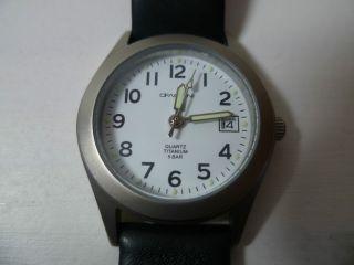 Fabiani Titan Damenarmbanduhr Leder Schwarz Datum Damenuhr Uhr Lederarmband Bild