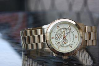 Michael Kors Mk8077 Armbanduhr Chronograph Uhr Für Herren / Damen / Unisex Bild