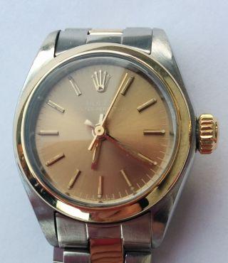 Rolex Uhr Oyster Perpetual Lady Stahl/gold Automatik Bild