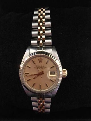 Rolex Oyster Perpetuel Lady Date Uhr In Stahl/gold Ref.  : 6917 Bild