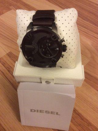 Diesel,  Uhr,  Dz 7258,  Chronograph Little Daddy,  Armbanduhr,  Braun,  Ovp Bild