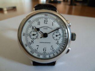 Eberhard Chronograph - 925er Silbergehäuse - Top Bild