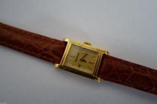 Vintage Jaeger Le Coultre Uhr In 18k Gold 15mm Kleinste Jlc Um 1940 FÜr Bastler Bild