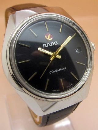 Rado Companion Glasboden Mechanische Uhr 17 Jewels Datumanzeige Lumi Zeiger Bild
