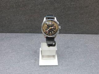 Angelus Chronograph Schwarzes Zifferblatt Kaliber Angelus 215 1940er Sammleruhr Bild