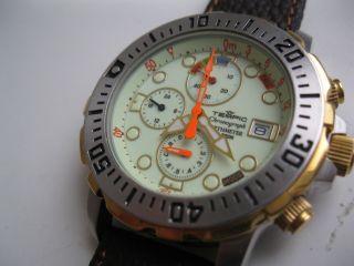 Herren Armbanduhr Tempic Chronograph Depthmeter W.  R.  200 M Bild