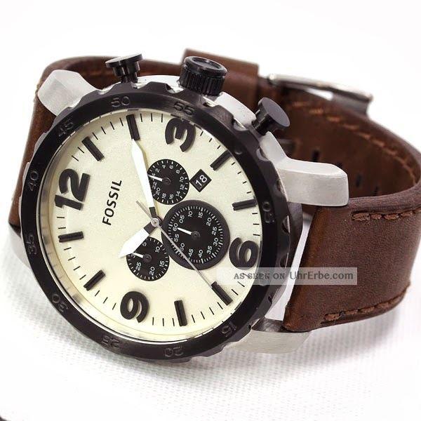 fossil chronograph herrenuhr armbanduhr uhr nate jp1390. Black Bedroom Furniture Sets. Home Design Ideas