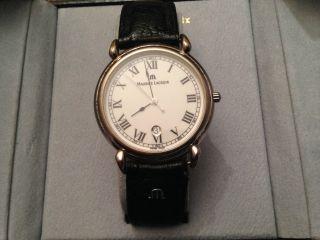 Maurice Lacroix,  Herren - Uhr,  Armband Schwarz,  Mit Blauer Box,  Neue Batterie Bild