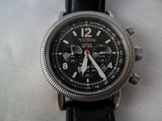 Yorn Chronograph Uhr Japanisches Quarzwerk Armbanduhr. Bild