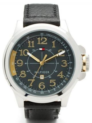 Tommy Hilfiger Herren - Armbanduhr Casual Sport Xl Analog Quarz Leder 1790843 Bild