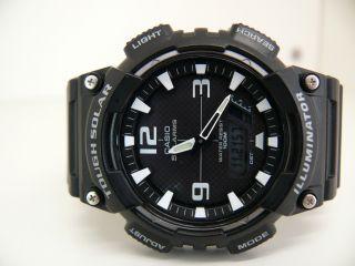 Casio Aq - S810w 5208 Herren Tough Solar Armbanduhr Watch 10 Atm Aviator Bild