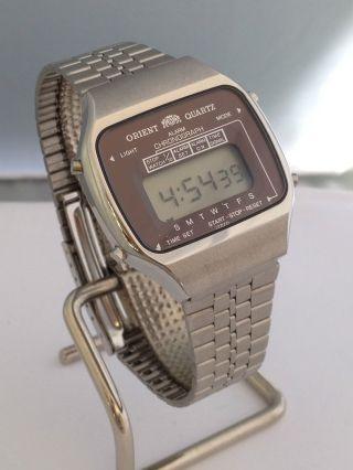 Lcd Digital Uhr Orient Quarz It741104 - 40 741104 40 Vintage Watch De Bild