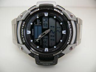 Casio Twin Sensor Sgw - 400h 5176 Thermo Alti Barometer Herren Armbanduhr Kletter Bild