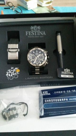 Festina Black Limited Edition 2013 Chrono Bike F16660/1 Chronograh 10 Bar Bild
