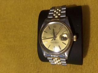 Rolex Datejust Gold/edelstahl Automatik Herrenuhr 36 Mm Refnr.  16013 7375343 Bild