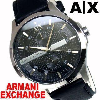 Armani Exchange Herren Uhr 47mm Lederarmband Mineral Glas Datum Uhr Ax2120 Bild